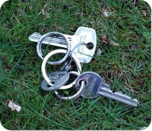 sleutels kwijt verloren